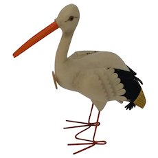 Fun Vintage Steiff Adebar Stork w/ ID