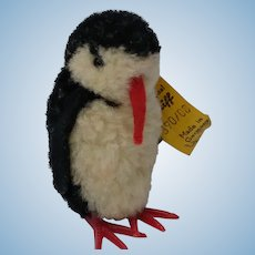 Adorable Little Vintage Steiff Wool Pom Pom Penguin