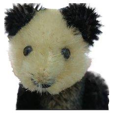 Cute Little Vintage Mohair Schuco Panda Bear