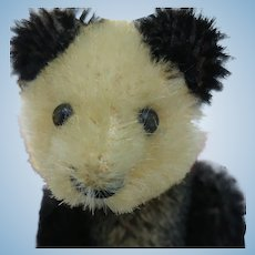 Cute Little Vintage Mohair Schuco Panda Bear