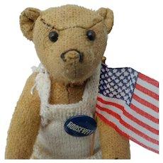Sweetest Little Early Worn Heart Breaker Teddy Bear -- Almost Completely Bald