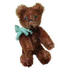 Adorable Vintage Chocolate Brown Mohair Schuco Teddy Bear