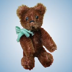 Adorable Vintage Chocolate Brown Mohair Schuco Teddy Bear