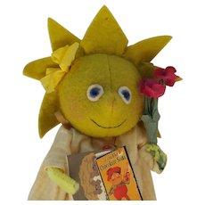 Super Cute Early 1st Edition Jody Battaglia Susie Sunshine Felt Doll
