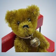 Super Cute Vintage Golden Olive Mohair Schuco Teddy Bear