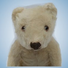 Sweetest Vintage 1950's White Mohair Teddy Bear No ID