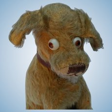 Super Cute and Comical Vintage Mohair Googly Eyed Dog