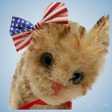 Adorable But Very Worn Steiff Mohair Kitty Cat No ID