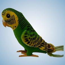 Fun Vintage Steiff Velveteen Hansi Parakeet Bird with ID