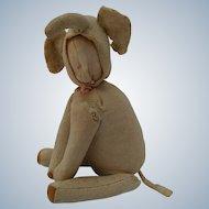 Worn Unusual Vintage Faceless Elephant Doll