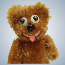 Fabulous Vintage Schuco 2 Faced Mohair Janus Teddy Bear He's Naughty and Nice