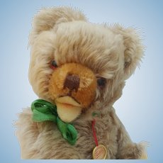 An Adorable Little Vintage Mohair Hermann Zotty Teddy Bear with ID