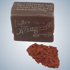 Fabulous Miniature Vintage Doll Sponge in Box Kleanwell Advertising Promotion