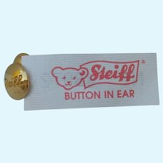 Ultimate Steiff Teddy Bear Collector Accessory -- Button and Tag Earring