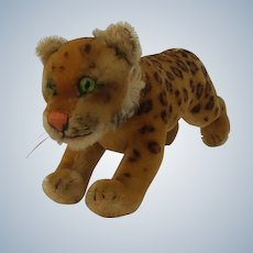 An Adorable Vintage Steiff Mohair Leopard No ID