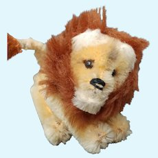 Adorable little Vintage Mohair 1950's Schuco Mohair Lion From Noah's Ark Series