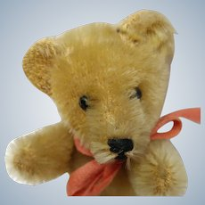 Darling Little Well Loved Vintage Schuco Perfume Bottle Mohair Teddy Bear