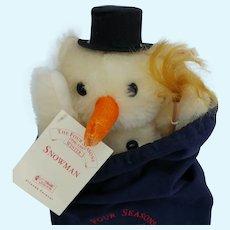 Wonderful Mohair LE Steiff Snowman 1996-1997 from the Four Seasons Collection