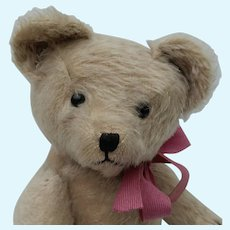 """Cute Vintage 15"""" Well Loved Mohair and Straw Stuffed Teddy Bear -- Sweetie-Pie"""