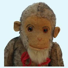 Wonderfully Expressive Vintage Tipped Mohair Monkey in Loved Condition