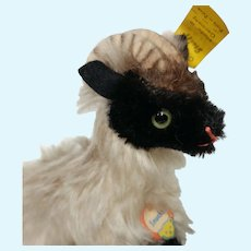 Nice Vintage Mohair Steiff Snucki Mountain Sheep Ram with All ID