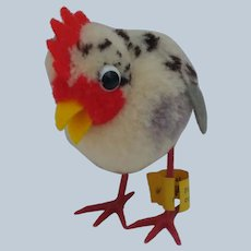 Lovely Little Steiff Woolen Pom Pom Hen with ID