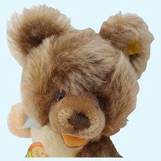 Nice Minty Steiff Lully Mohair Teddy Bear Minty with All ID and Original Bow