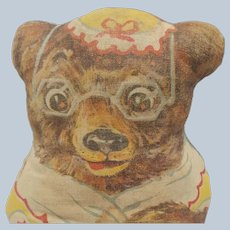 Early Vintage Printed Cloth Kellogg's Advertising Mama Bear Doll From Goldilocks