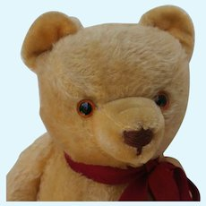 "Sweet Vintage Mohair 19"" Teddy Bear Straw Stuffed Mystery Ted"