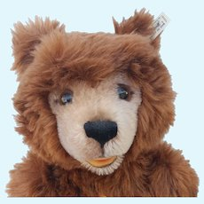 """Fabulous and Minty Big 19"""" Steiff Limited Edition of 1200 Mohair Teddy Bear with ID"""