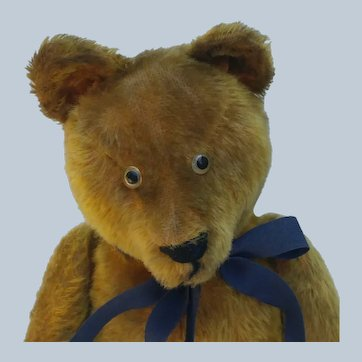 "Endearing Vintage Mohair Well Loved Teddy Bear in Larger 19"" Size"