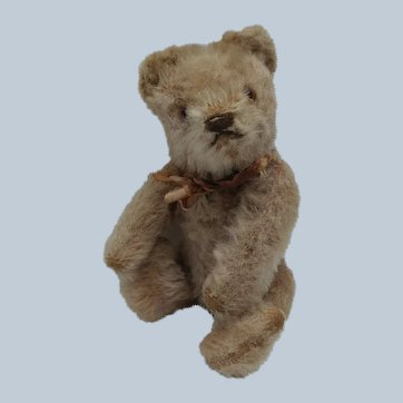 "Cute Little Loved Vintage Steiff 6"" Original Teddy Bear No ID"