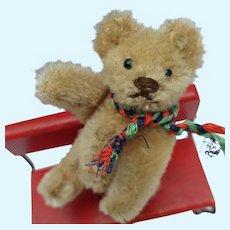 Super Cute Vintage Mohair Steiff Miniature Teddy Bear No ID