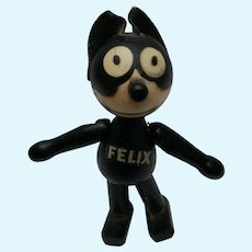 Super Cute Little Schoenhut Felix the Cat Wood Doll with Label