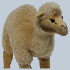 Cute Vintage Steiff Dromedary Camel Made of Wool and Velveteen No ID