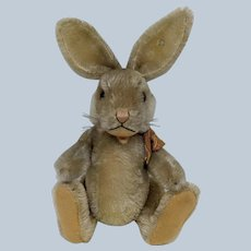 Adorable Vintage Fully Jointed Mohair Steiff Niki Bunny Rabbit with Button