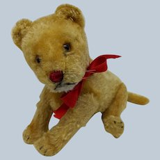 Sweet Vintage 1950's Fully Jointed Steiff Mohair Lion Lioness No ID