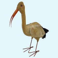 Worn But Wonderful Vintage Steiff Adebar Stork with Button