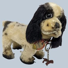 Super Cute Vintage Mohair Steiff Cocker Spaniel Dog Cockie with All ID's