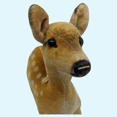 Super Cute Vintage Steiff Velveteen Deer No ID