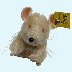 Super Cute Vintage Mohair Steiff Pieps Mouse with All ID's 1959-1964
