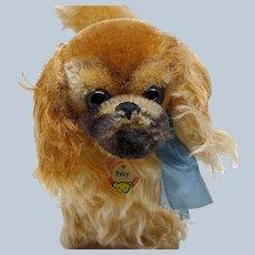 Sweetest Vintage Mohair Steiff Peky Pekingese Dog with ID