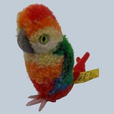 Wonderful Little Vintage Steiff Woolen Pom Pom Parrot Bird with ID