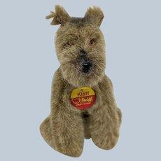 Adorable Little Vintage Steiff Klaff Dog with All ID's
