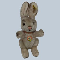 Super Cute Vintage Steiff Dralon Hare Bunny Rabbit with All ID's