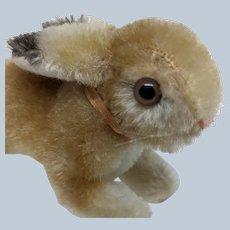 Adorable Little Vintage Steiff Mohair Running Bunny Rabbit No ID