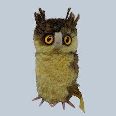 Cute Vintage Steiff Woolen Pom Pom Owl with ID