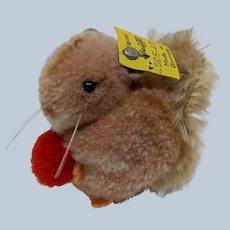 Adorable Little Vintage Steiff Woolen Pom Pom Squirrel with ID