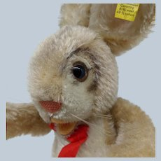 Adorable Vintage Steiff Ossilli Bunny Rabbit Hare with ID no Dress