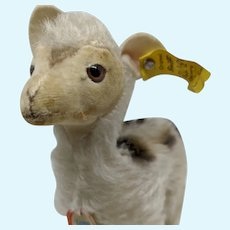 Adorable Loved Vintage Steiff Mohair Lama Llama with All ID's